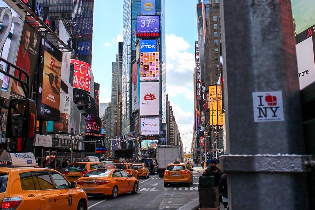 Street art New York City The Hat Kid Times Square