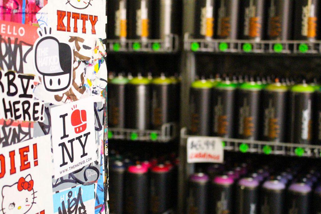 Street art New York City The Hat Kid Graffiti Scrap Yard