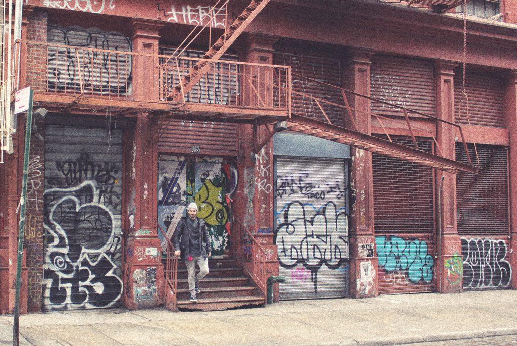 Street art New York City The Hat Kid Soho