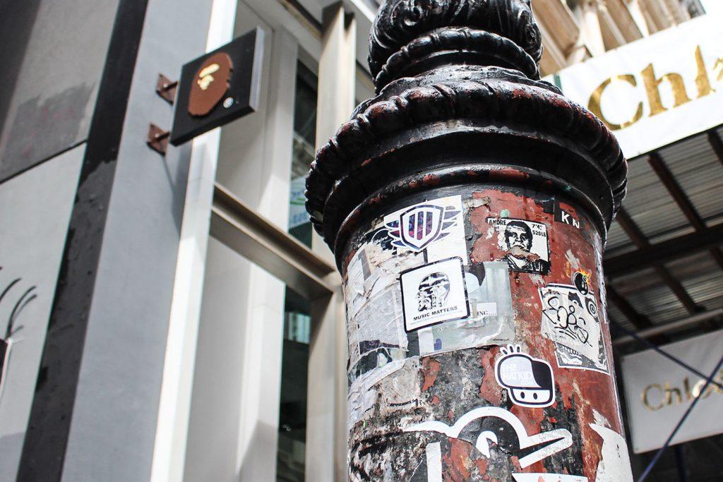 Street art New York City The Hat Kid BAPE