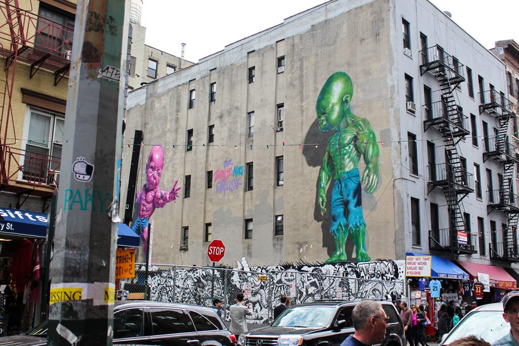 Street art New York City The Hat Kid RON ENGLISH