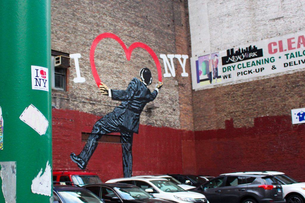 Street art New York City The Hat Kid Nick Walker