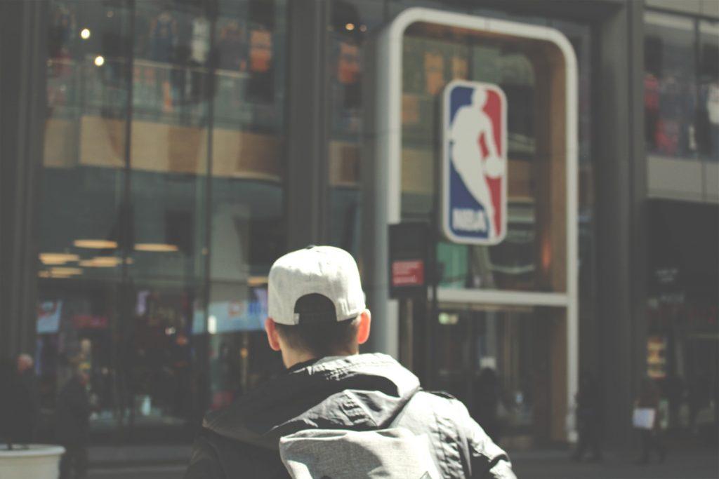 Street art New York City The Hat Kid NBA