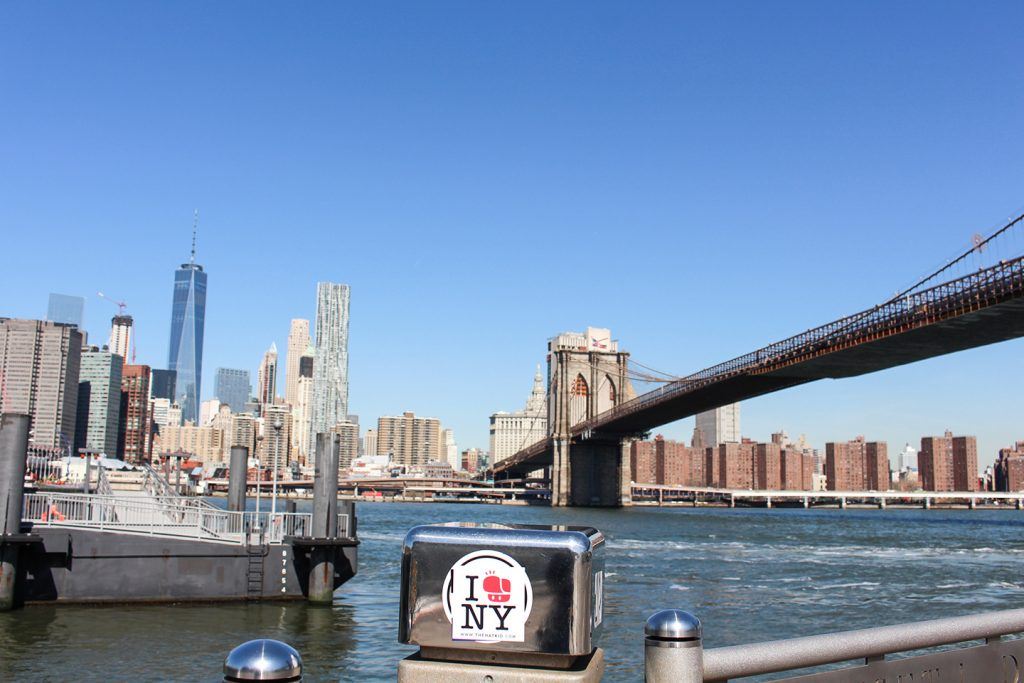 Street art New York City The Hat Kid Brooklyn Bridge