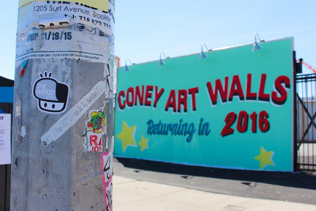 Street art New York City The Hat Kid Coney Island