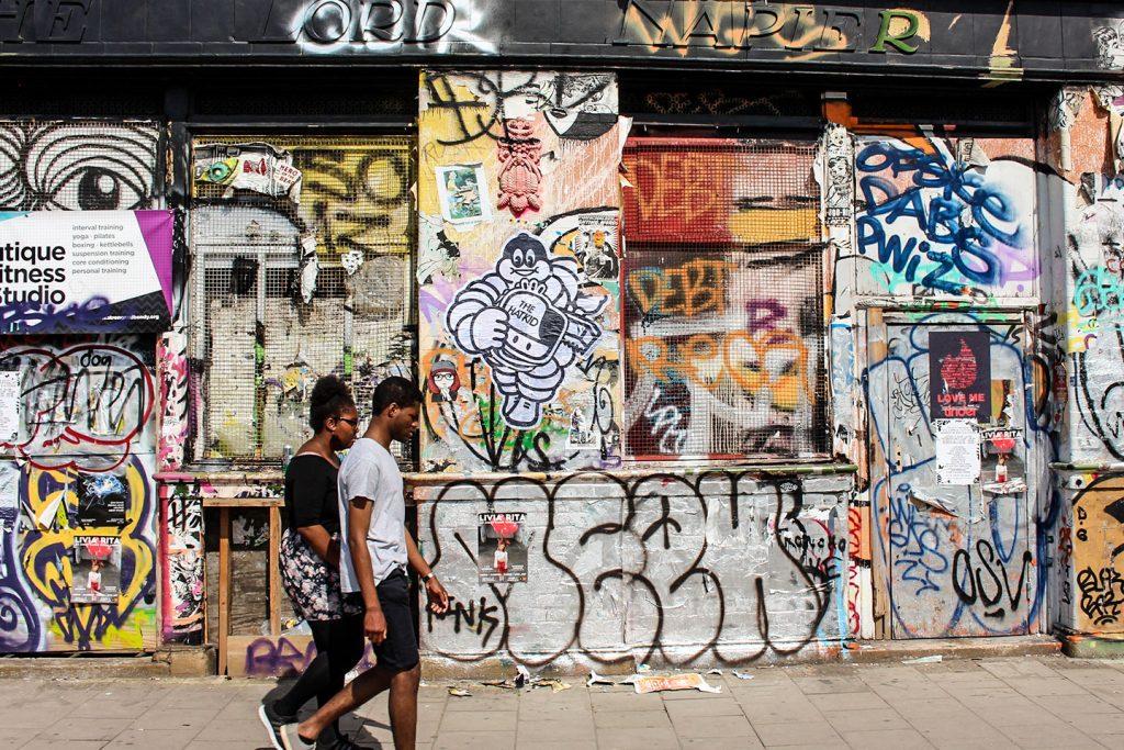 the hat kid street art London paste-up