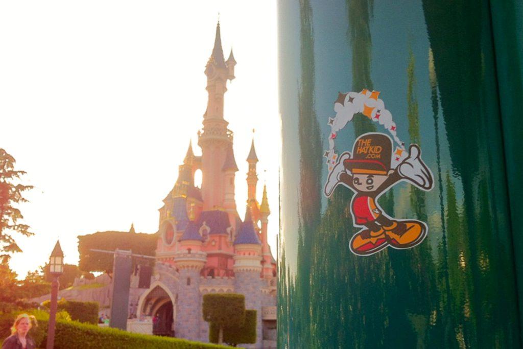 the hat kid street-art Eurodisney stickers