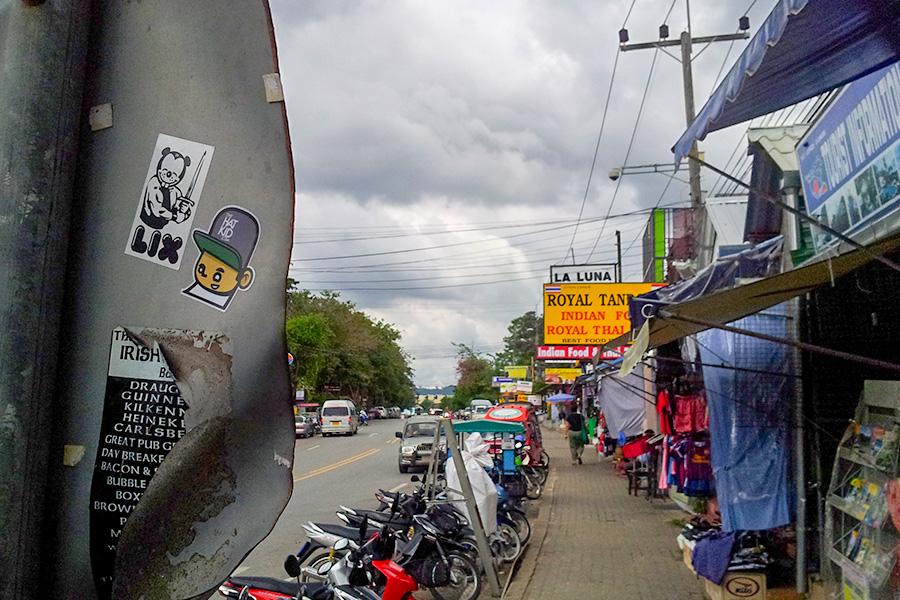 the hat kid street art Thailand stickers LIX